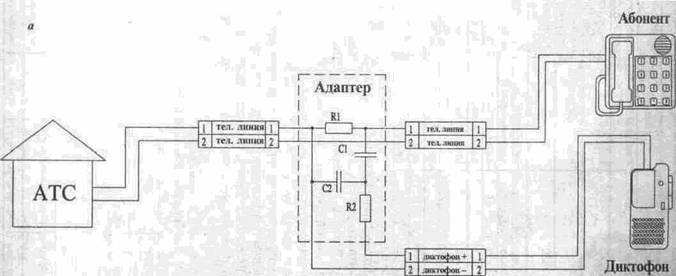 Схемы адаптеров для
